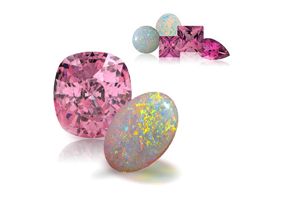 Tourmaline and Opal - October birthstones.