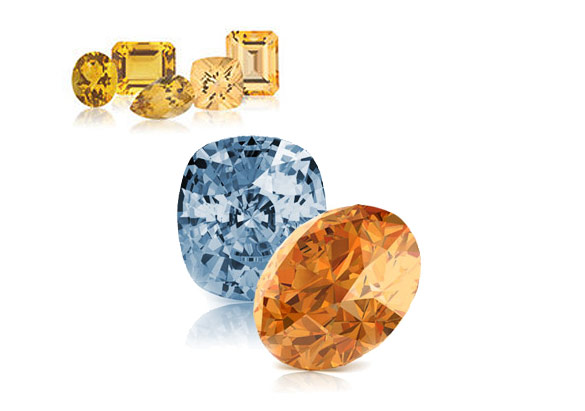 Topaz and Citrine - November birthstones.